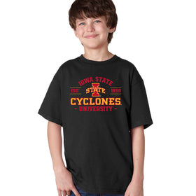 Iowa State Cyclones Boys Tee Shirt - Arch Iowa State 1858