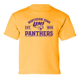 Northern Iowa Panthers Boys Tee Shirt - UNI Established 1876