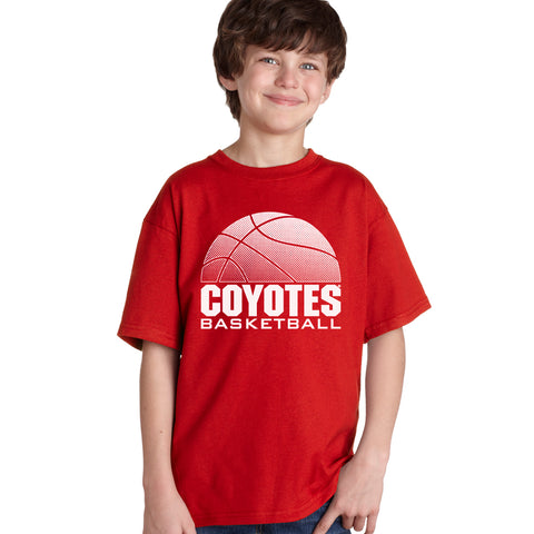 South Dakota Coyotes Boys Tee Shirt - Coyotes Basketball
