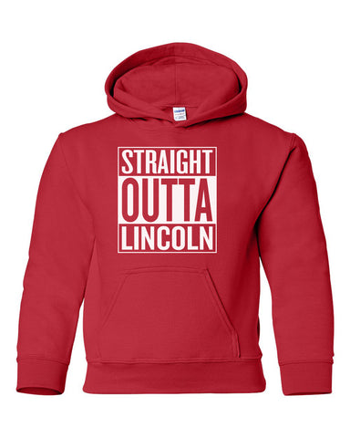 Nebraska Youth Hooded Sweatshirt - STRAIGHT OUTTA LINCOLN