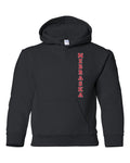 "Nebraska Cornhuskers Vertical ""NEBRASKA"" Youth Hooded Sweatshirt-Black-XL"