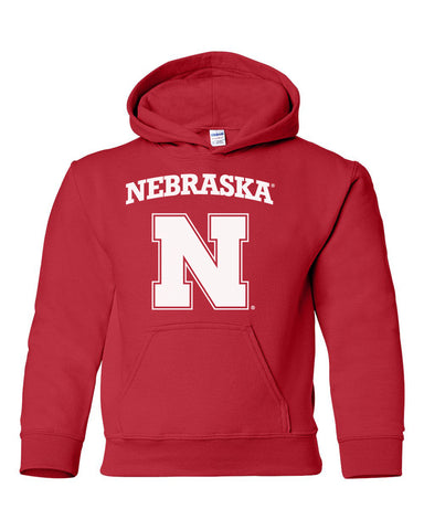 Nebraska Cornhuskers Block N Youth Hooded Sweatshirt