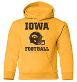 Iowa Hawkeyes Youth Hooded Sweatshirt - Iowa Football Helmet