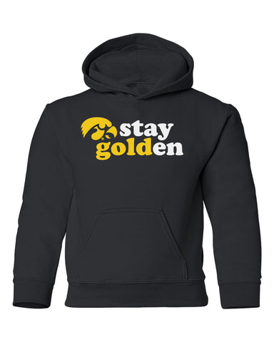 Iowa Hawkeyes Youth Hooded Sweatshirt - Hawkeyes Stay Golden