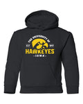Iowa Hawkeyes Youth Hooded Sweatshirt - The University of Iowa Hawkeyes EST 1847