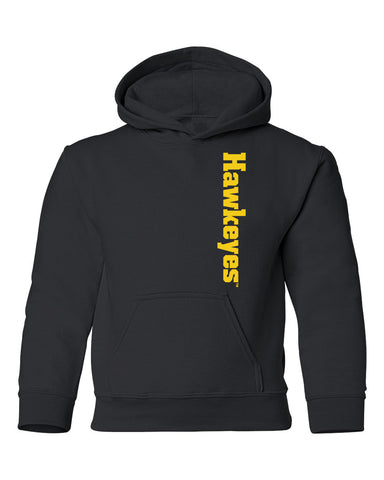 Iowa Hawkeyes Youth Hooded Sweatshirt - Vertical Offset Hawkeyes