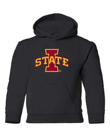 Iowa State Cyclones Youth Hooded Sweatshirt - ISU I-STATE Logo