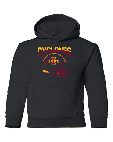 Iowa State Cyclones Youth Hooded Sweatshirt - ISU Cyclones Football Helmet