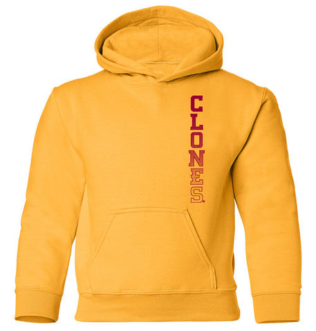 Iowa State Cyclones Youth Hooded Sweatshirt - Vertical Clones Fade