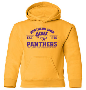Northern Iowa Panthers Youth Hooded Sweatshirt - UNI Established 1876