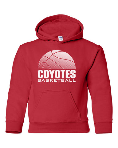 South Dakota Coyotes Youth Hooded Sweatshirt - Coyotes Basketball