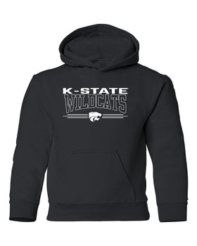 K-State Wildcats Youth Hooded Sweatshirt - Wildcats with 3-Stripe Powercat