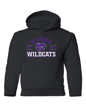 K-State Wildcats Youth Hooded Sweatshirt - Arch K-State Wildcats EST 1863