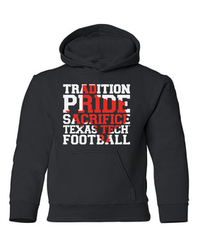 Texas Tech Red Raiders Youth Hooded Sweatshirt - Texas Tech Football Tradition