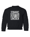 Nebraska Youth Crewneck Sweatshirt - STRAIGHT OUTTA LINCOLN