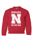 "Nebraska Cornhuskers ""Nebraska N GO BIG RED"" Youth Crewneck Sweatshirt"