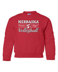 "Nebraska Huskers Volleyball ""Dream Bigger"" Youth Crewneck Sweatshirt"