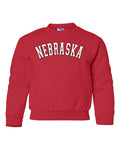 """NEBRASKA"" Arch Youth Crewneck Sweatshirt"