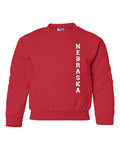 "Vertical ""NEBRASKA"" Youth Crewneck Sweatshirt"