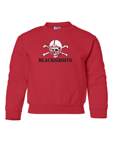 Nebraska Husker Youth Crewneck Sweatshirt - Blackshirts Logo
