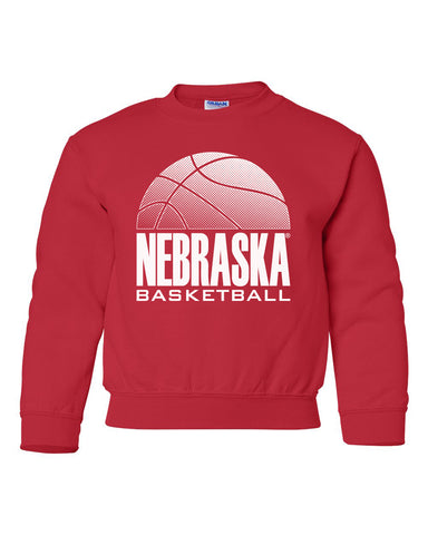 Nebraska Huskers Youth Crewneck Sweatshirt - Nebraska Basketball
