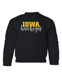 Iowa Hawkeyes Youth Crewneck Sweatshirt - Iowa Script Hawkeyes
