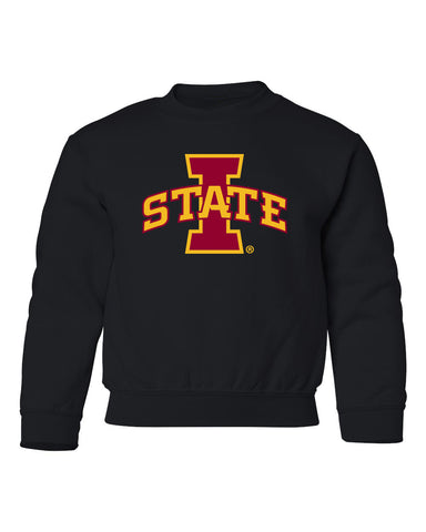 Iowa State Cyclones Youth Crewneck Sweatshirt - ISU I-STATE Logo