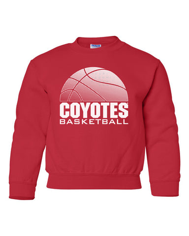South Dakota Coyotes Youth Crewneck Sweatshirt - Coyotes Basketball