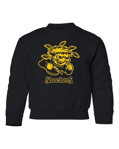 Wichita State Shockers Youth Crewneck Sweatshirt - WuShock Logo