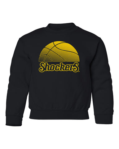 Wichita State Shockers Youth Crewneck Sweatshirt - WSU Shockers Basketball