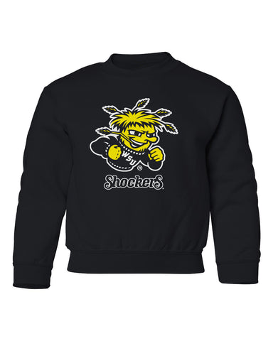 Wichita State Shockers Youth Crewneck Sweatshirt - Wu Shock Shockers