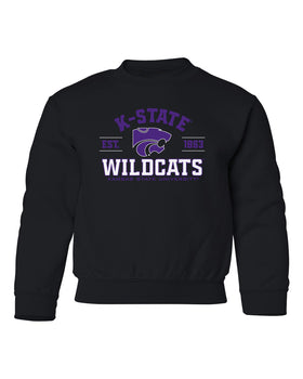 K-State Wildcats Youth Crewneck Sweatshirt - Arch K-State Wildcats EST 1863