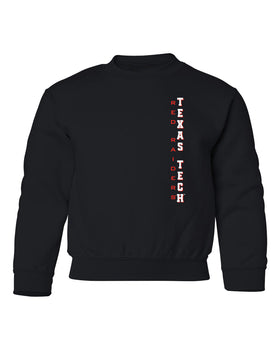 Texas Tech Red Raiders Youth Crewneck Sweatshirt - Vertical Texas Tech