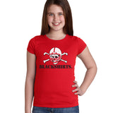 Nebraska Husker Youth Girls Tee Shirt - Blackshirts Logo