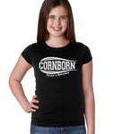 Nebraska Husker Tee Shirt Youth Girls - CornBorn Forever a Nebraskan