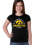 Iowa Hawkeyes Girls Tee Shirt - The University of Iowa Hawkeyes EST 1847