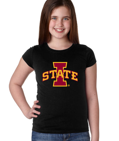 Iowa State Cyclones Girls Tee Shirt - ISU I-STATE Logo