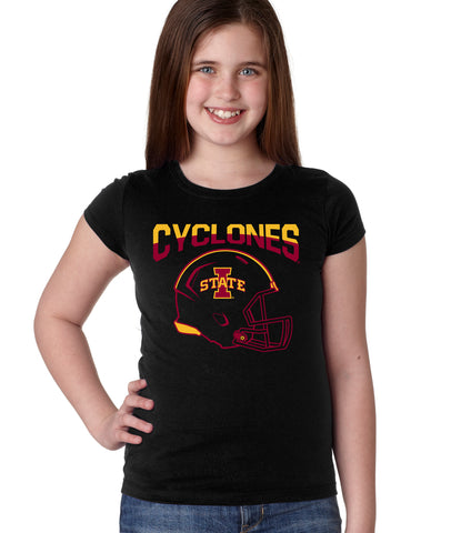 Iowa State Cyclones Girls Tee Shirt - ISU Cyclones Football Helmet