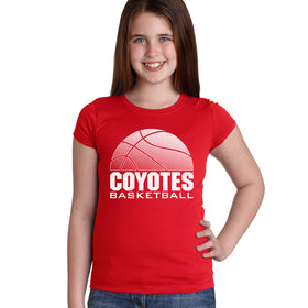 South Dakota Coyotes Girls Tee Shirt - Coyotes Basketball