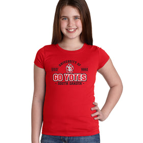 South Dakota Coyotes Girls Tee Shirt - USD 1862 GO YOTES