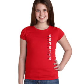 South Dakota Coyotes Girls Tee Shirt - Vertical USD Coyotes