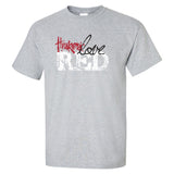 "Nebraska Cornhuskers ""Go Big Huskers Love Red"" Tee Shirt"