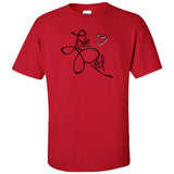 "Nebraska Cornhuskers ""Love Red"" Hearts Tee Shirt"