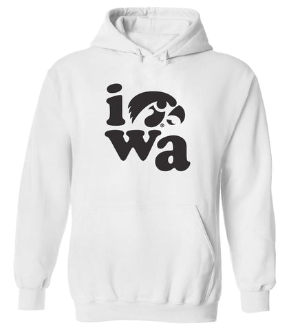 Women's Iowa Hawkeyes Hooded Sweatshirt - Iowa Stacked