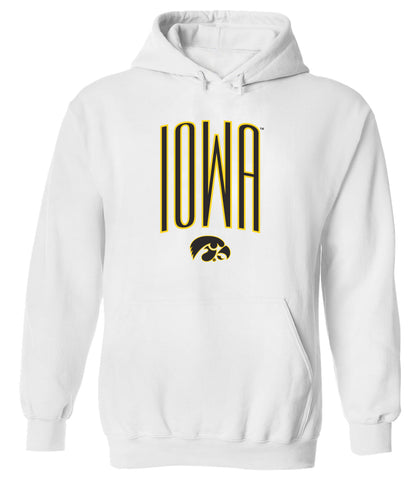 Women's Iowa Hawkeyes Hooded Sweatshirt - IOWA Arc with Tigerhawk