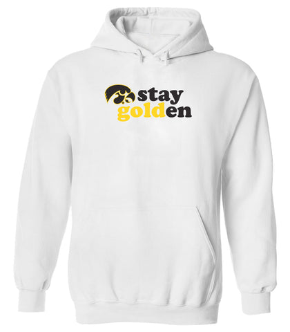 Women's Iowa Hawkeyes Hooded Sweatshirt - Stay Golden