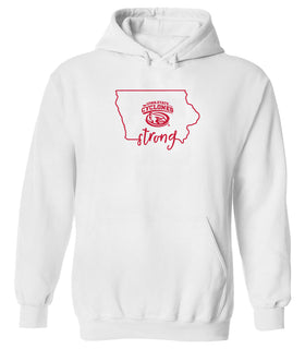 Women's Iowa State Cyclones Hooded Sweatshirt - Cyclones Strong State Outline