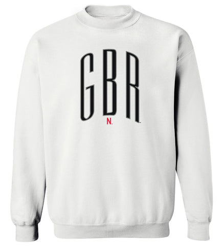 Women's Nebraska Huskers Crewneck Sweatshirt - Giant Black GBR