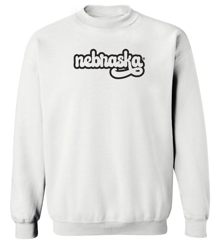 Women's Nebraska Huskers Crewneck Sweatshirt - Black Retro nebraska