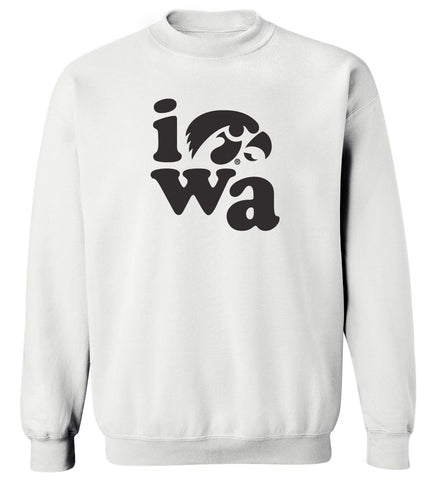 Women's Iowa Hawkeyes Crewneck Sweatshirt - Iowa Stacked